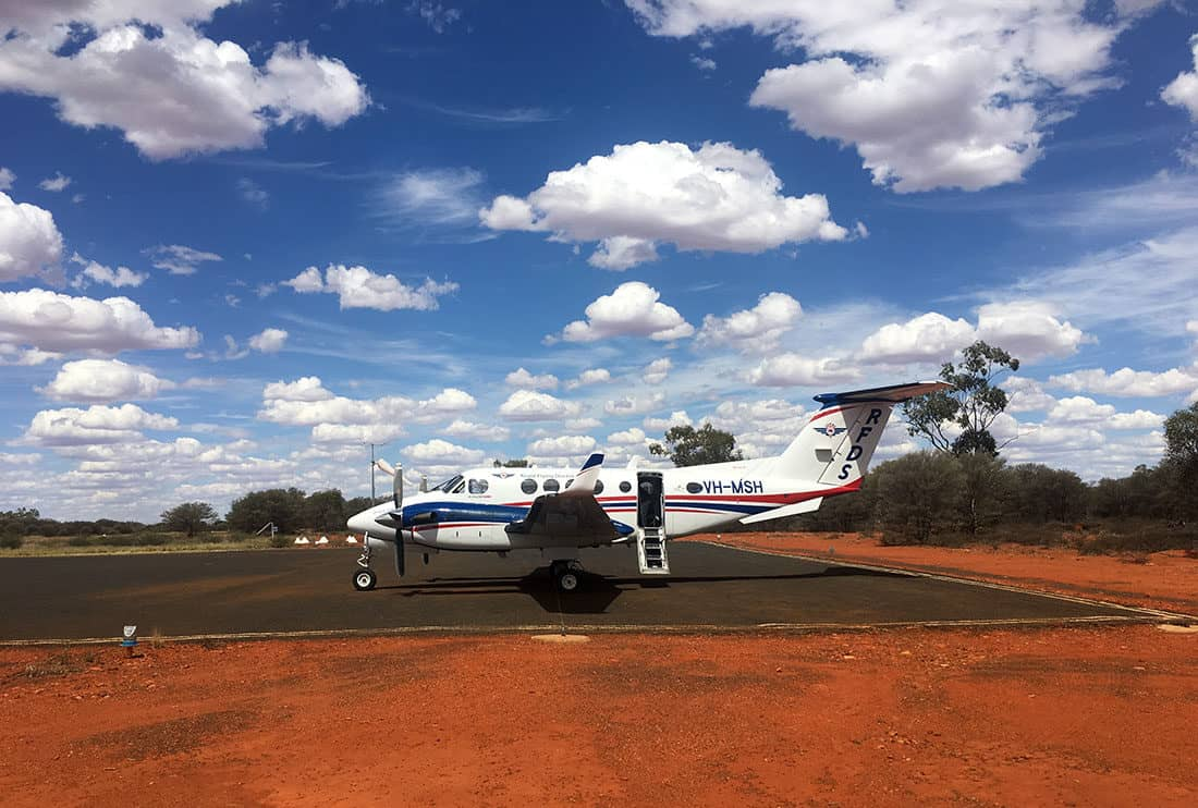 Theres never a complaint about our morning commute to work when working with the RFDS in Outback Australia.