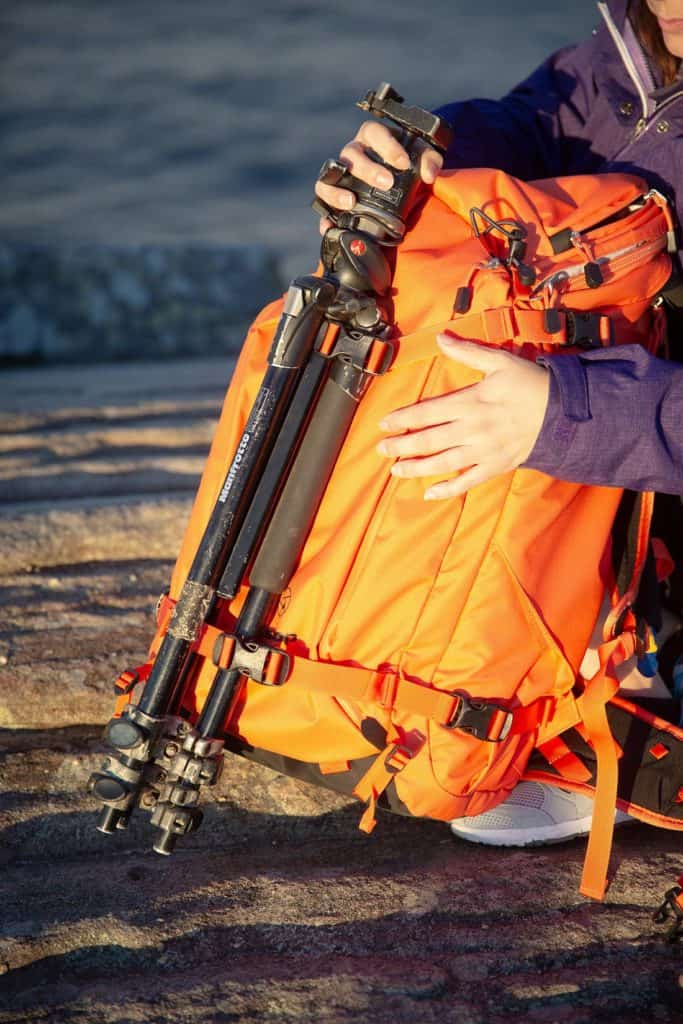 Attachment loops can hold snow shovels, sleeping mat or your tripods. Photo: ©Richard McGibbon
