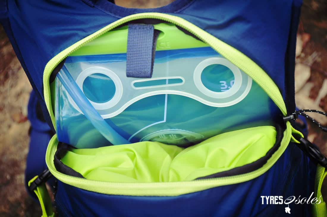 The hydration pocket keeps fluids cooler than normal. Pic©Tyres and Soles