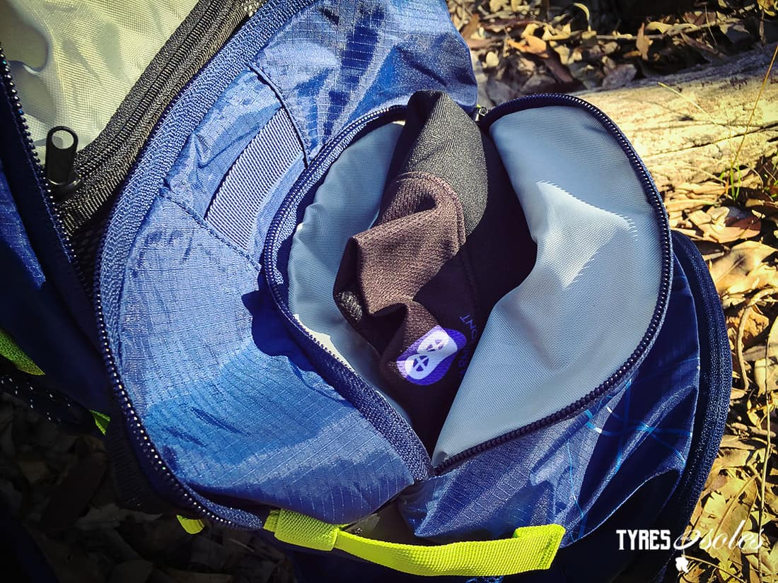 The FUSE 12L has three main compartments. Pic:©tyres and Soles