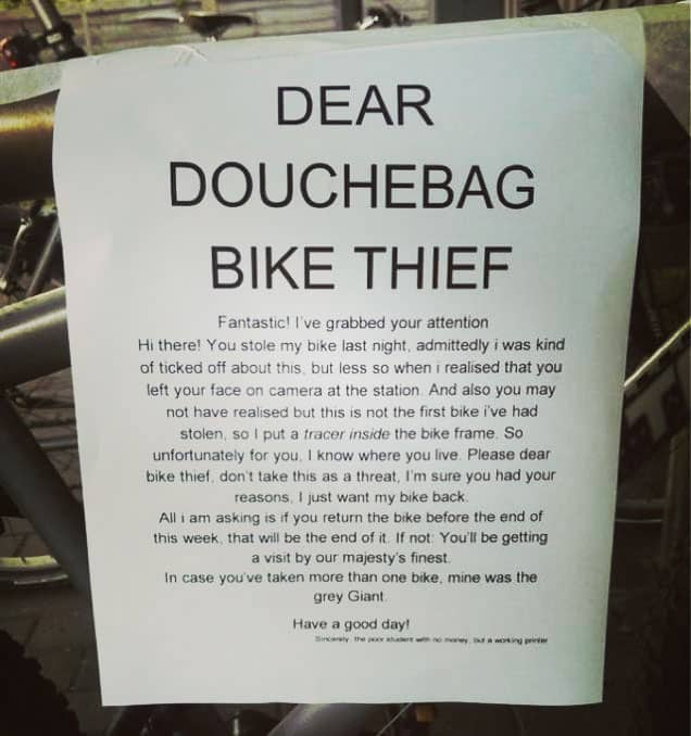 Tips To Prevent MTB Theft