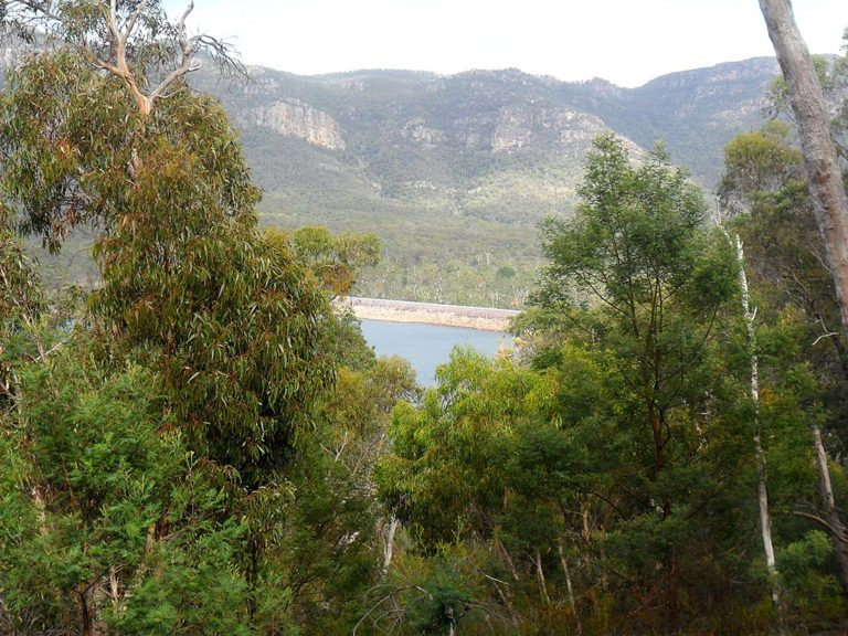 A welcome view of Lake Bellfield.