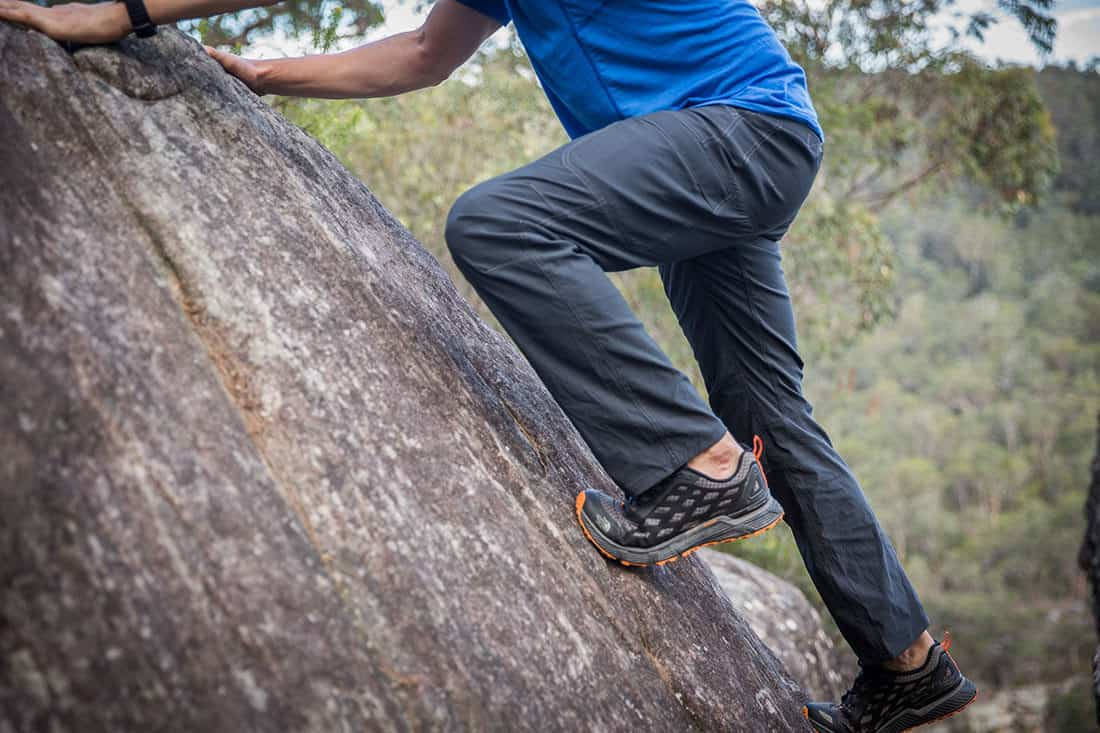 The KÜHL Renegade pants allow for a great range of movement and sense of freedom. Pic:©Richard McGibbon