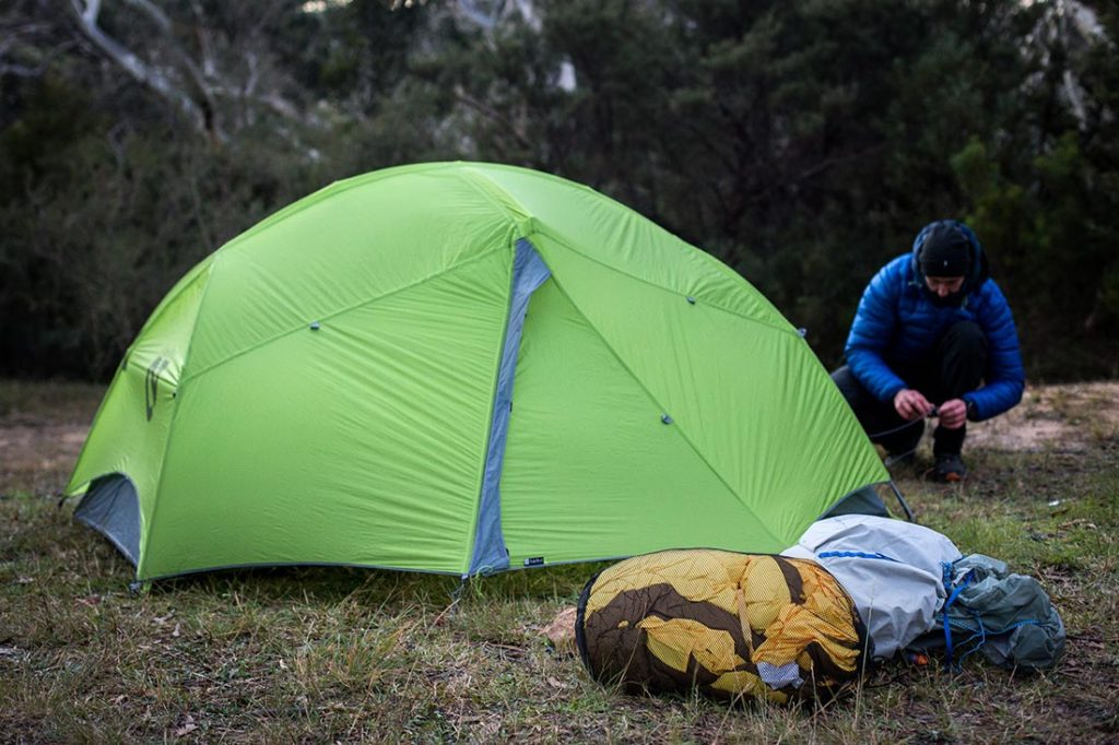 Getting ready for a night with my Zenbivy Bed. Photo:©Richard McGibbon