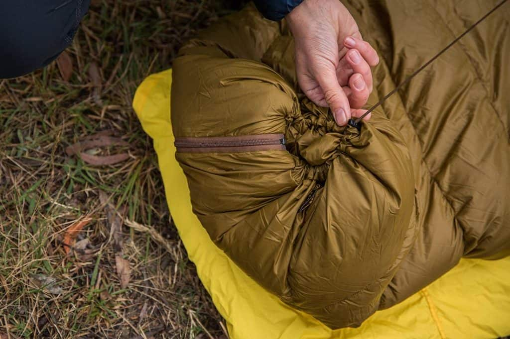 The Zenbivy bed foot box can be closed up tight for colder nights. Photo:©Richard McGibbon