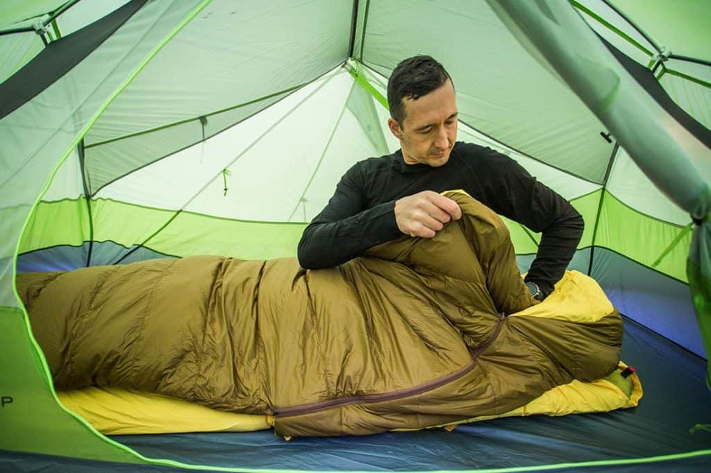 Getting in and out of the Zenbivy Bed is easy with left and right access zippers.©Richard McGibbon
