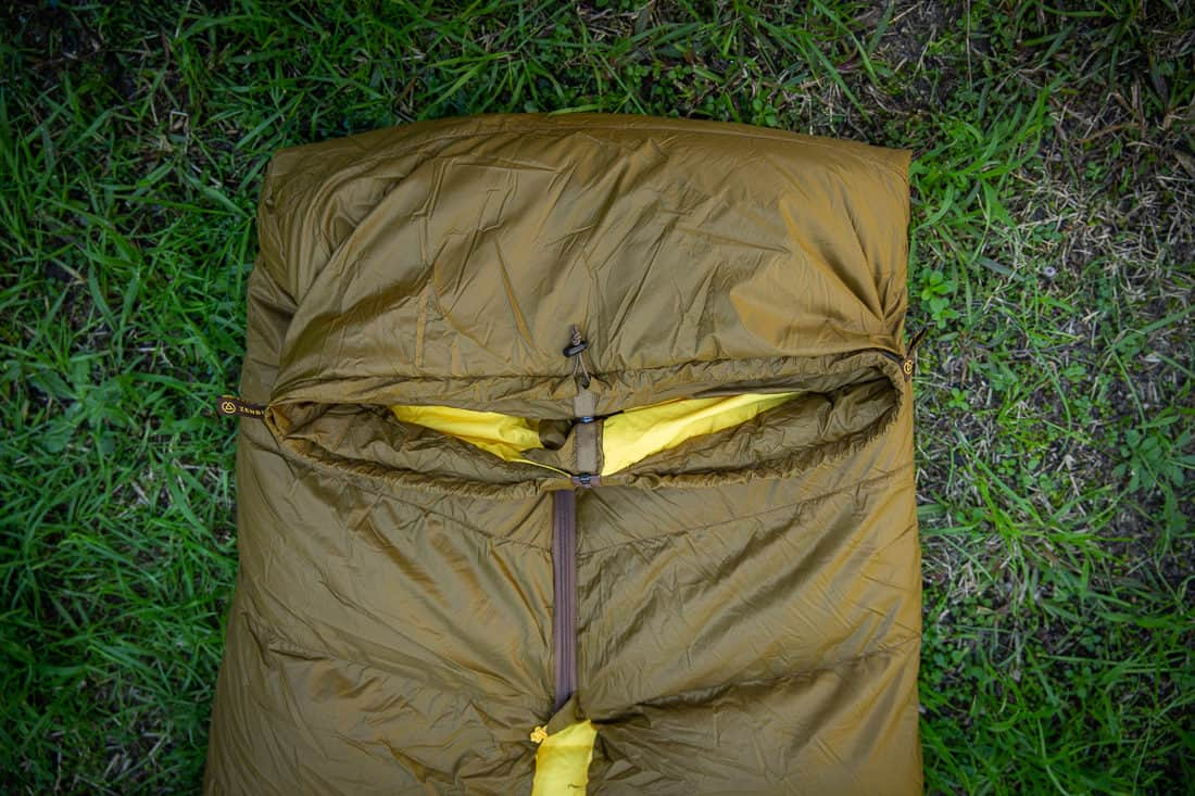 The Zenbivy Bed foot box is fully adjustable to help regulate your temperature. Photo:. ©Richard McGibbon