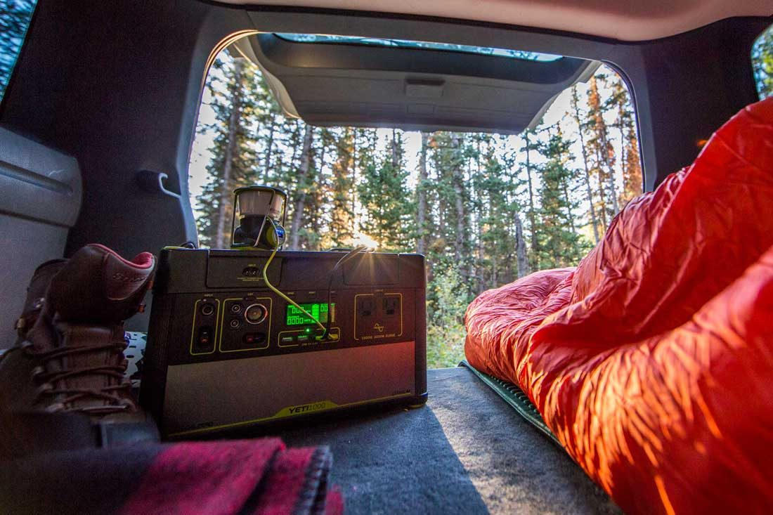 Personal power backup on remote trips