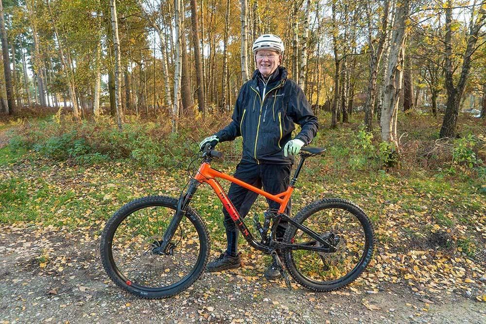 senior mountain biking