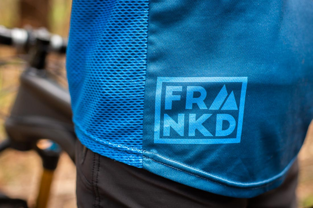 Frankd MTB Apparel, stylish and bold. Photo: ©Richard McGibbon