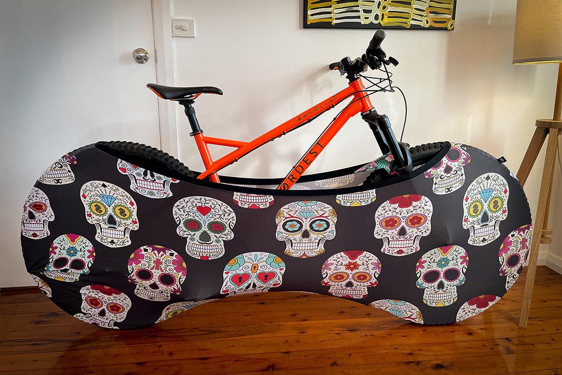 velo sock indoor bike cover review